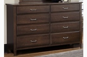 Commentary Cherry 8 Drawer Triple Dresser