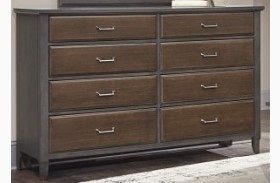 Commentary Steel And Oak 8 Drawer Triple Dresser
