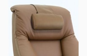 Oslo Sand Top Grain Leather Cervical Pillow