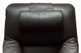 Oslo Espresso Top Grain Leather Cervical Pillow