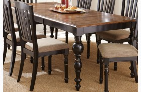 Carrolton Medium Oak Extendable Rectangular Dining Table
