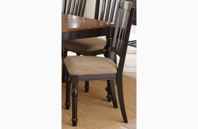 Carrolton Beige Poly Cotton Side Chair Set of 2