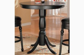 Black Finish Bar Counter Height Pub Table - 100278