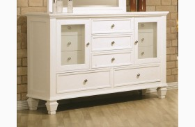 Sandy Beach White Dresser - 201303