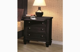 Sandy Beach Black Nightstand - 201322