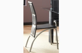 Calvin Black Leather Side Chair Set of 4