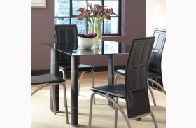 Calvin Glass Top Rectangular Dining Table