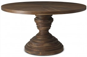 Crawford Sepia Round Dining Table