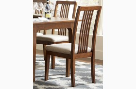 Mid-Mod Cinnamon Tall Back Upholstered Dining Chair Set of 2