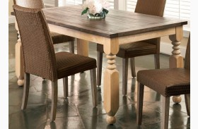 Coronado Rectangular Turned Leg Table