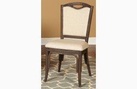 Coronado Chocolate Upholstered Side Chair Set of 2