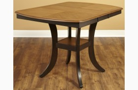 Bungalow Brown Extendable Rectangular Counter Height Table