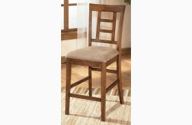 Cross Island Upholstered Counter Stool Set of 2