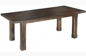 Pine Hill Warm Rustic Pine Extendable Rectangular Dining Table