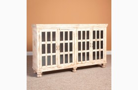 Rustic Collectibles Painted 4 Door Sideboard