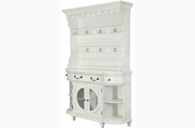 Hancock Park Vintage White Buffet With Hutch