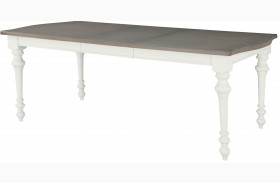 Hancock Park Vintage White Small Rectangular Dining Table