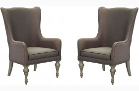 Hancock Park Weathered Oak Host Chair Set of 2