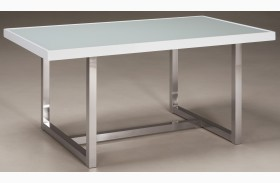 Baraga White Rectangular Dining Room Table