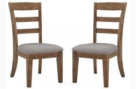 Danimore Light Brown/Light Gray Upholstered Side Chair Set Of 2