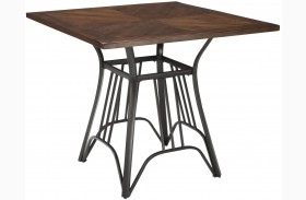 Zanilly Two-tone Square Counter Height Dining Table