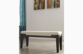 Trishelle Ivory Double Upholstered Bench