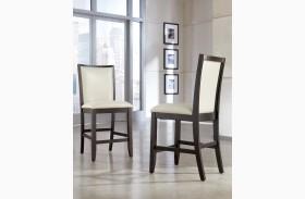 Trishelle Cream Upholstered Counter Stool Set of 2