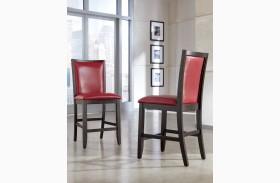 Trishelle Red Upholstered Barstool Set of 2