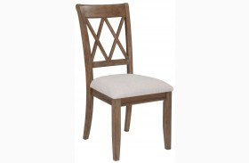 Narvilla Linen Upholstered Side Chair Set of 2