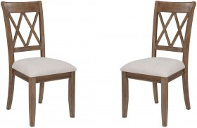 Narvilla Linen Upholstered Side Chair Set of 2