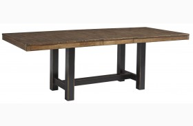 Emerfield Two-tone Brown Rectangular Extendable Dining Table