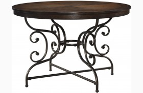 Brulind Brown Round Dining Table