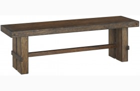 Leystone Dark Brown Large Dining Bench
