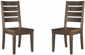 Leystone Dark Brown Dining Room Side Chair Set of 2