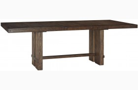 Leystone Dark Brown Rectangular Extendable Dining Table