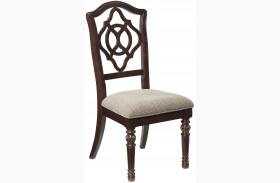 Leahlyn Brown Dining Upholstered Side Chair Set of 2