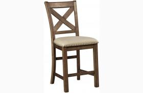 Moriville Gray Upholstered Barstool Set of 2