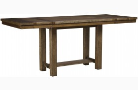Moriville Gray Extendable Counter Height Dining Table