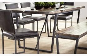 Plaza Warm Acacia Rectangular Dining Table
