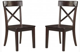 Gerlane Dark Brown Dining Room Side Chair Set of 2