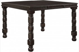 Gerlane Dark Brown Rectangular Extendable Counter Height Dining Table
