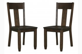 Trudell Dark Brown Dining Side Chair Set Of 2