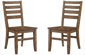 Dondie Brown Dining Side Chair Set of 2