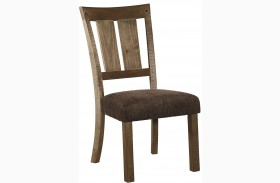 Tamilo Dark Brown Dining Upholstered Side Chair Set Of 2