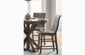 Willow Distressed Dark Gray Counter Chair Set of 2