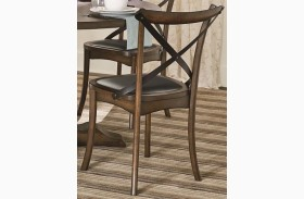 Braxton Medium Chestnut X-Back Dining Chair Set of 2