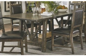 Crossroads Birch Smoke Dining Table