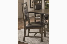 Crossroads Birch Smoke Upholstered Dining Chair Set of 2