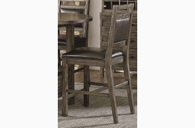 Crossroads Birch Smoke Upholstered Counter Chair Set of 2