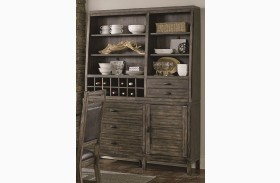 Crossroads Birch Smoke Buffet with Hutch